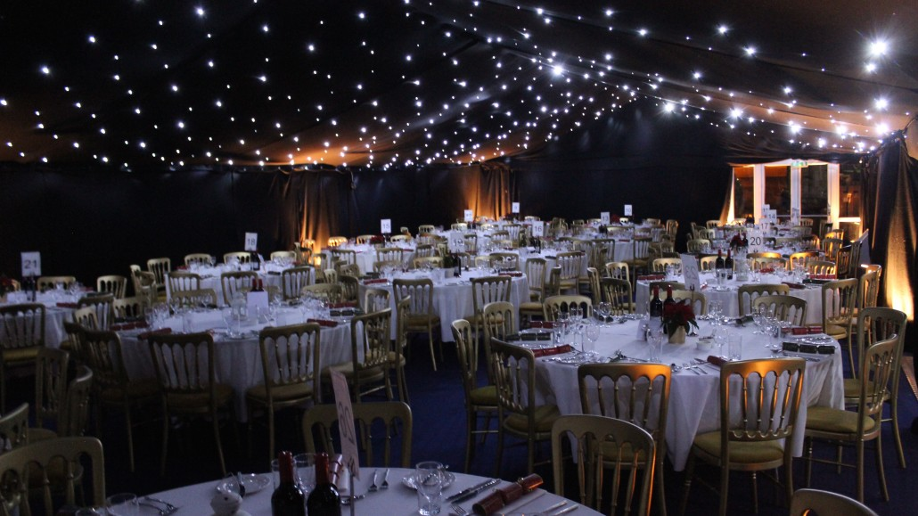 The Port House can cater for up to 300 people - this was their Christmas Party marquee last year