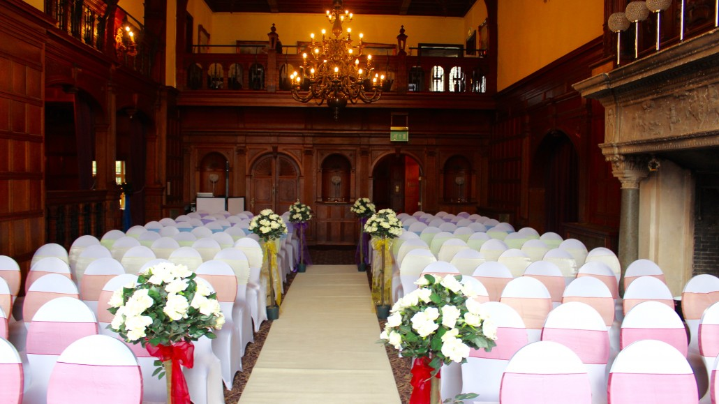 The ceremony room with my kit tucked away at the back on the left
