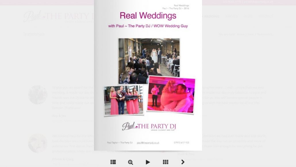 Party DJ Real Weddings